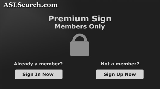This sign is for members only